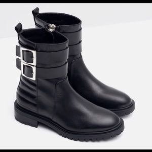 Zara two buckle boots